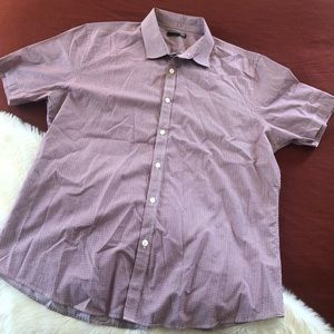 Murano short sleeve micro plaid short sleeve sz.XL